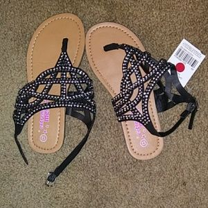 Other - NWT girls sandles size 12 color black